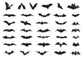 set of halloween bats royalty free cliparts vectors and stock