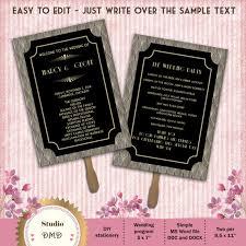 deco wedding program printable wedding program template deco great by studiodmd