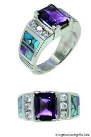 large amethyst diamond white gold engagement rings bezel set modern halo amethyst ring in 14k