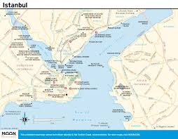 Marcus Amphitheater Map Map Of Istanbul Map Of Istanbul Tourist Attractions Sightseeing