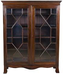 Wooden Bookcase With Glass Doors Late Mahogany Antique Bookcase Antique Bookcase Glass