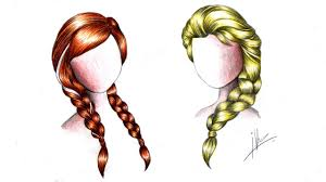 drawing braids anna u0026 elsa frozen