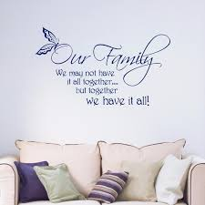 stickers cuisine phrase our family quote words phrases removable vinyl wall sticker