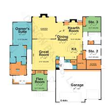bright ideas one floor house plans remarkable one level house