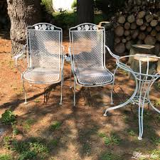 Antique Patio Chairs Spray Paint Patio Furniture Our Vintage Wrought Iron Patio Set