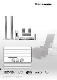 panasonic home theater receiver panasonic home theater system sc pt850 user guide manualsonline com
