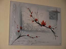 Tableau Abstrait Rouge Et Gris by Abstrait Fleuri Rouge La Peinture En Abstrait