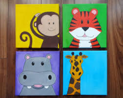 Pix For  Canvas Paintings Ideas For Kids Kids Paintings - Canvas art for kids rooms