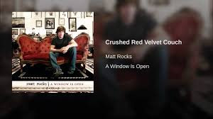 crushed red velvet couch youtube