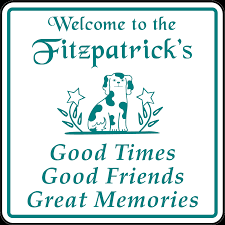 personalized home welcome decor plaque sign with dog appealing signs