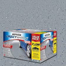 rust oleum epoxyshield 2 gal gray 2 part high gloss epoxy garage
