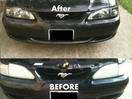 Black Mustang Axial Mustang Black Cobra Style Headlights 49050 94 98 All