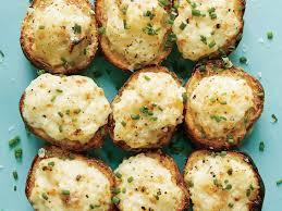 lemon caper parmesan potato salad bites recipe myrecipes