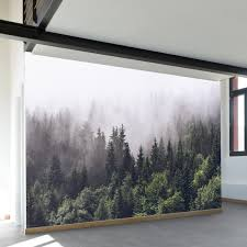 walls need love misty forest wall mural reviews wayfair misty forest wall mural