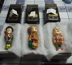 christopher radko three stooges curly larry moe ornaments 200 00