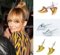 ear piercing earrings 2017 unique stylish ivory gold silver stud earrings fashion women