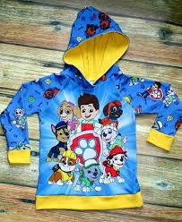 paw patrol hoodie fabric and panel by affordable fabrics and more