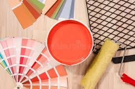 different shades of red sles with different shades of red and can of red paint with