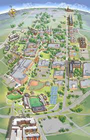 Birds Eye View Map Bellarmine University Illustrated Campus Map Map Illustration