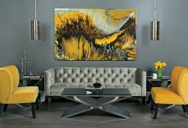awesome canvas pictures hang on grey wall painted over tuxedo awesome canvas pictures hang on grey wall painted over tuxedo tufted charcoal sofa and modern coffee table on grey tiled living room designs