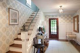 wallpaper home interior 25 gorgeous entryways clad in wallpaper