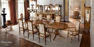 ivory dining room with inlaid and carved furniture finished one