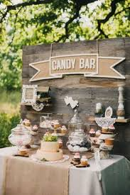 rustic theme vintage theme candy bar dessert table coltul