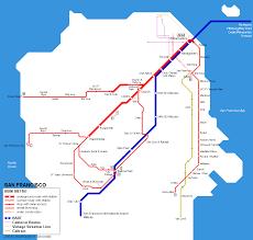 Dublin Bart Map by Sf Subway Map My Blog