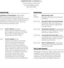 Resume For Lifeguard Résumé U2014 Christina Connell