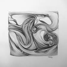 abstract landscape pencil drawings google search drawings