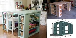 build a craft table how to build modern diy craft table beesdiy com