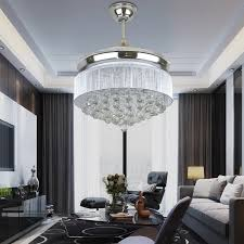 Ceiling Fan Crystal by Led Modern Ceiling Fan Crystal Remote Control With Lights