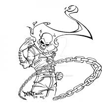 printable coloring picture ghost rider free superheroes