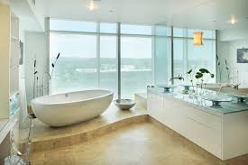 hot bathroom trends freestanding bathtubs bring home the spa retreat with view in gallery a standalone tub becomes an instant focal point in the  bathroom from decoistcom