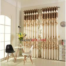 Thermal Cafe Curtains Romantic Princess Style Thermal Curtain In Coffee And Beige Color