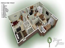 2 Bedroom Floor Plans Ranch by 2 Bedroom Ranch House Plans Floor Plan G Bath Inspired Memorial