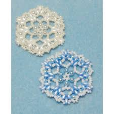 snowflake 6 beaded ornament pattern bead patterns by skobel