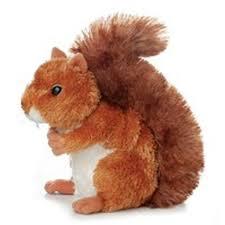 amazon com aurora plush nutsie brown squirrel 6 5