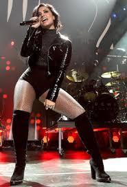 Gillian Anderson Latex - celebrities in leather demi lovato wears a black pvc jacket
