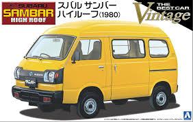 subaru sambar van amazon com 1 24 subaru sambar high roof model car aoshima the