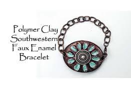 polymer clay tutorial southwestern faux enamel bracelet youtube
