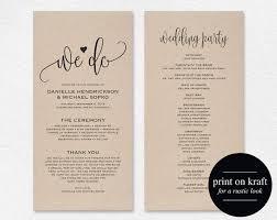 wedding program exles wedding program thank you exles wedding tips and inspiration