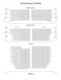 victoria palace theatre seating plan london boxoffice co uk