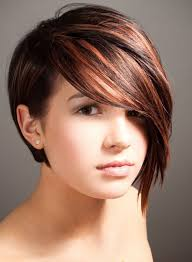 haircuts for shorter in back longer in front of haircuts short in back long in front photos