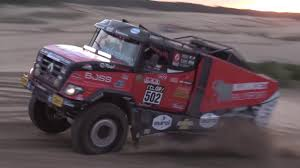 rally truck suspension mkr rally truck rides on hendrickson springs youtube