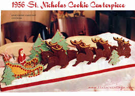 livin vintage make a santa u0027s sleigh cookie centerpiece this christmas