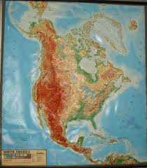 Maps North America by North America Raised Relief Wall Map Zoom