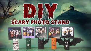 diy halloween decoration scary photo stands youtube