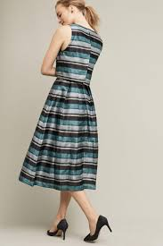 Pierre Dress Anthropologie Pankaj U0026 Nidhi Striped Forrester Dress In Blue Lyst