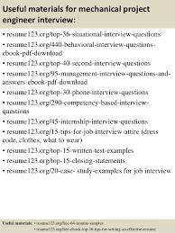 Sample Of Resume For Mechanical Engineer Top 8 Mechanical Project Engineer Resume Samples